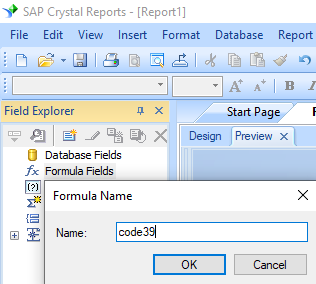 code39 barcode create formula crystal reports