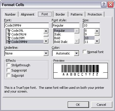 code39 barcode font typeface crystal reports