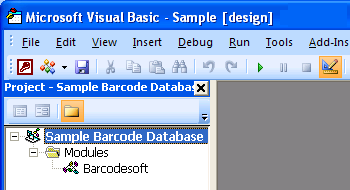 gs1128 barcode Access VBA
