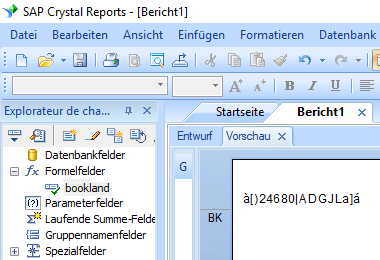 Bookland barcode crystal reports formelfelder