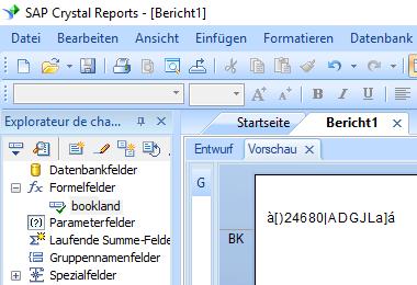 Bookland barcode crystal reports formelfelder