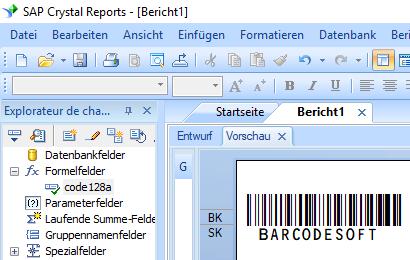 code128 barcode Kristallbericht