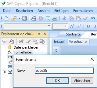 code25 barcode erstellen formel crystal reports