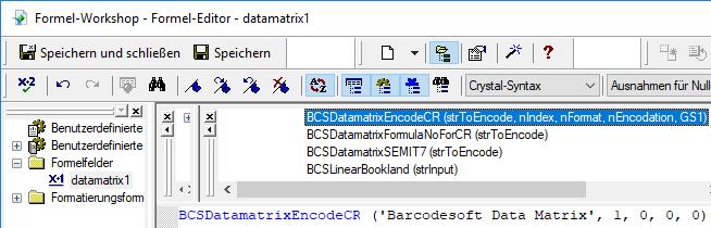 datamatrix Kristallbericht UFL