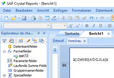 EAN13 barcode crystal reports formelfelder