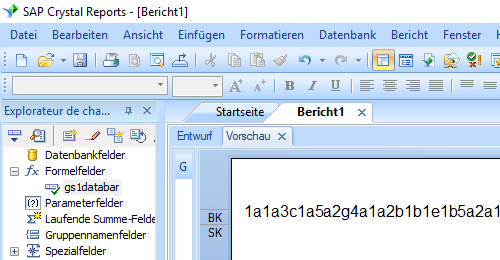 gs1-Databar barcode crystal reports formelfelder
