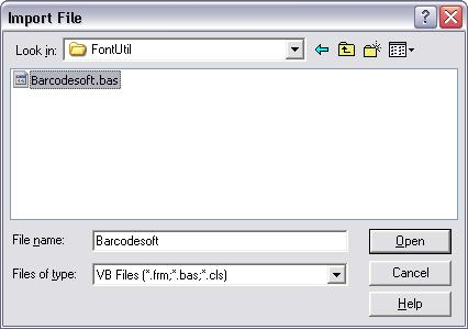 intelligent-mail barcode import vba