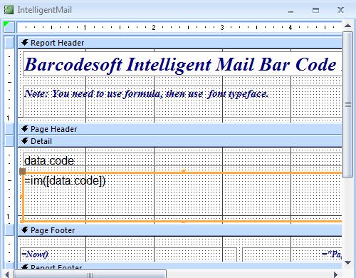 intelligent-mail barcode barcode access macro