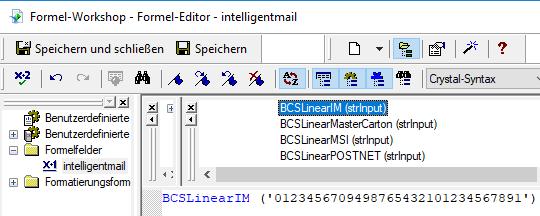intelligent-mail barcode crystal reports UFL