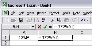Interleaved 2 aus 5 barcode Excel macro