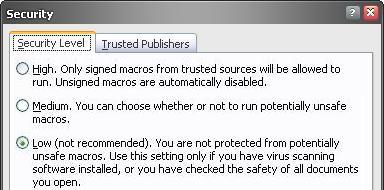 PDF417 makro Security