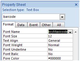 MaxiCode access font typeface