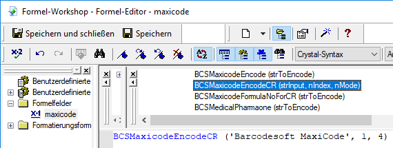 MaxiCode crystal reports UFL