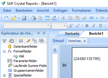 msi barcode crystal reports formelfelder