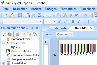 msi barcode crystal reports