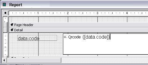 QRCode barcode access macro