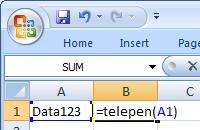Telepen barcode Excel makro