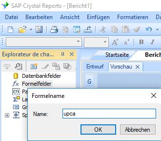 UPCA barcode erstellen formel crystal reports