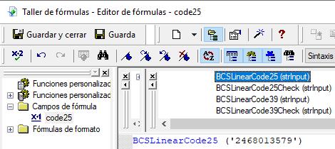 code25 código de barras crystal reports UFL
