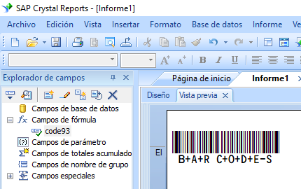 code93 código de barras crystal reports