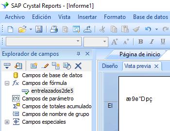 Entrelazados-2-de-5 código de barras crystal reports fórmula campo
