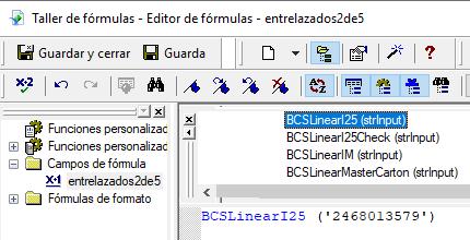 Entrelazados-2-de-5 código de barras crystal reports UFL