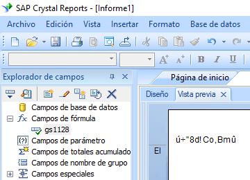 GS1128 código de barras crystal reports fórmula campo