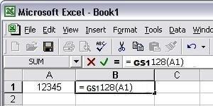 GS1128 código de barras Excel macro