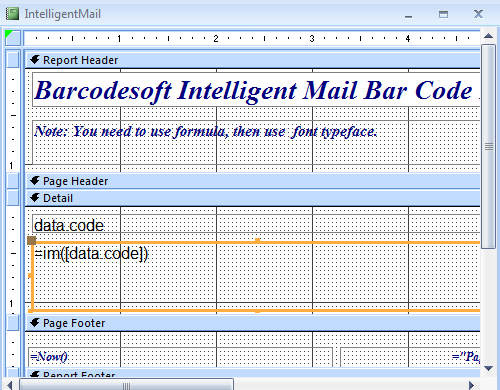 intelligent-mail código de barras access macro