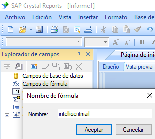 intelligent-mail código de barras crear fórmula crystal reports
