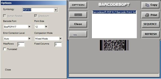 PDF417 Encoder