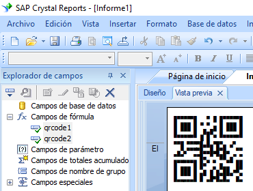 QRCode crystal reports