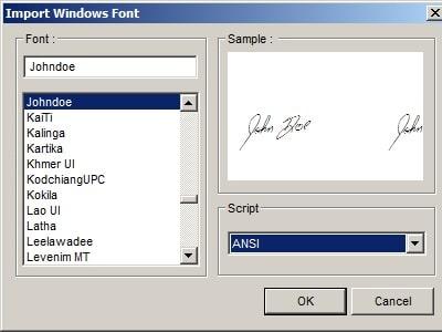 foxit pdf editor import signature font
