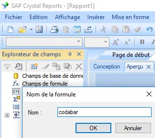 code à barres codabar create formule crystal reports