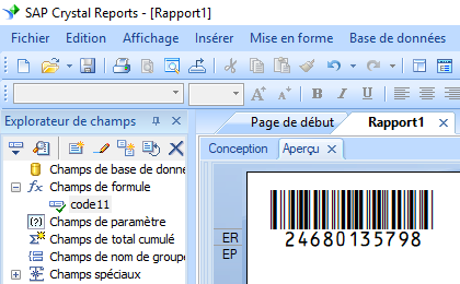 code11 barcode crystal reports