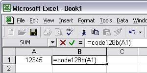 code-à-barres code128 excel macro