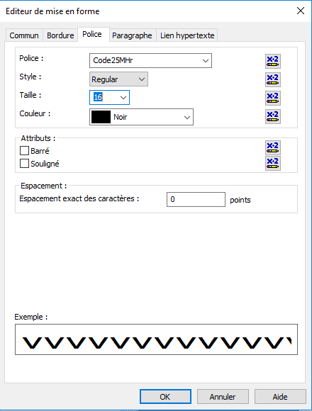 code25 barcode font crystal reports