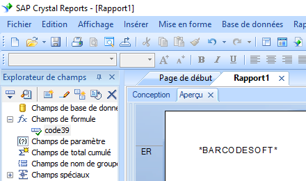 code39 code barres crystal reports UFL