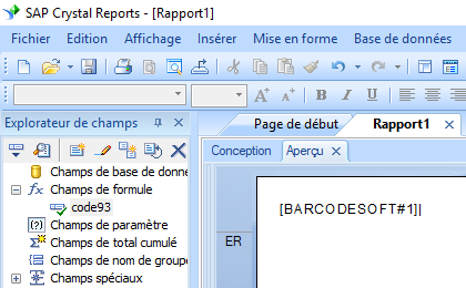 code93 code barres crystal reports UFL