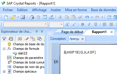 ean13 code barres crystal reports UFL
