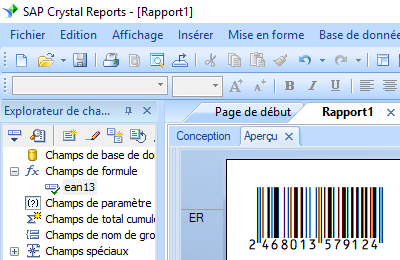 ean13 code barres crystal reports