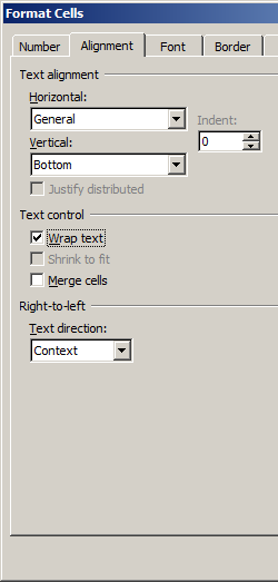 PDF417 alignement excel