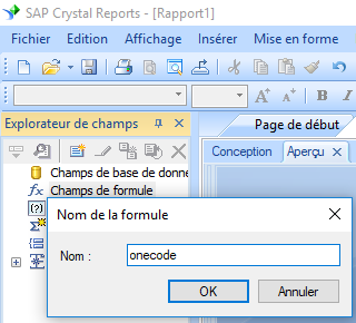 onecode code barres create formule crystal reports