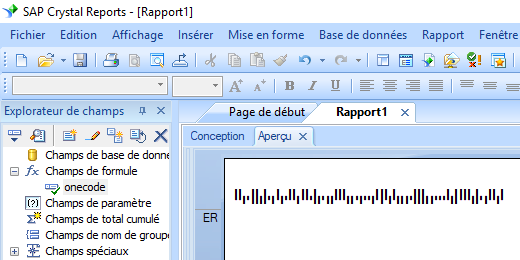 onecode code barres crystal reports