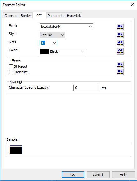 gs1-databar barcode font crystal reports