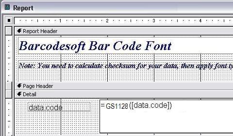 gs1128 バーコード access マクロ
