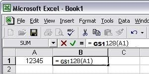 gs1128 Excel マクロ