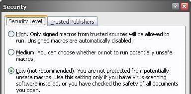 gs1128 Access マクロ セキュリティ