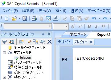 Telepen crystal reports 式 式フィールド