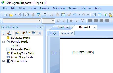 MSI barcode crystal reports formula field
